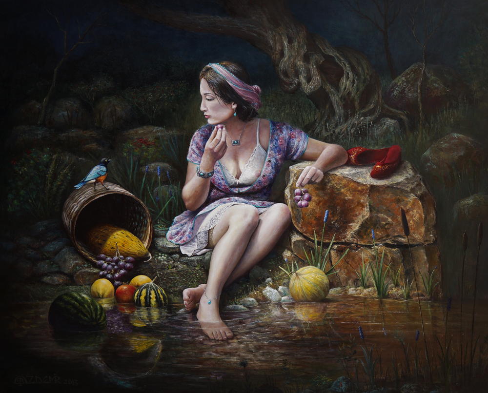 The girl and fruits by marcheba
