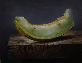 a slice of melon by marcheba