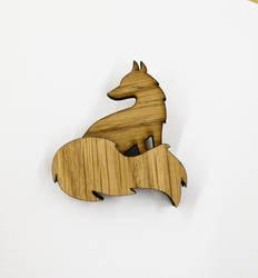 Oak Fox Brooch by ShedDesigner