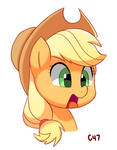 Suprised Applejack by handgunboi
