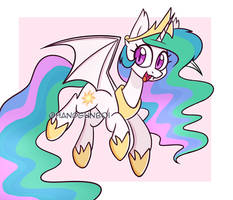 Celestia Bat Pony