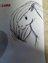chibi horse by KarasuFang