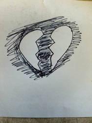 broken heart by KarasuFang