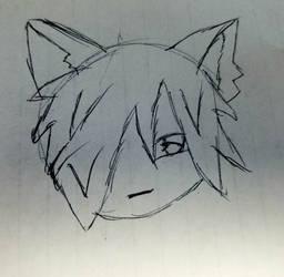 chibi wolf boy by KarasuFang