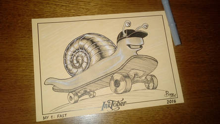 #inktober day one. .. fast... by ar-bianca