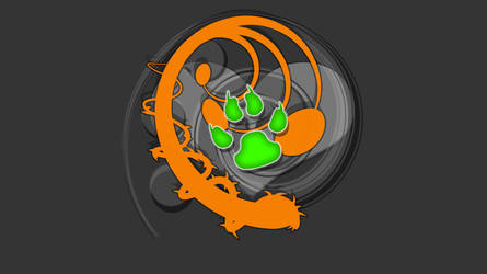 Wild Abstract Orange by coil