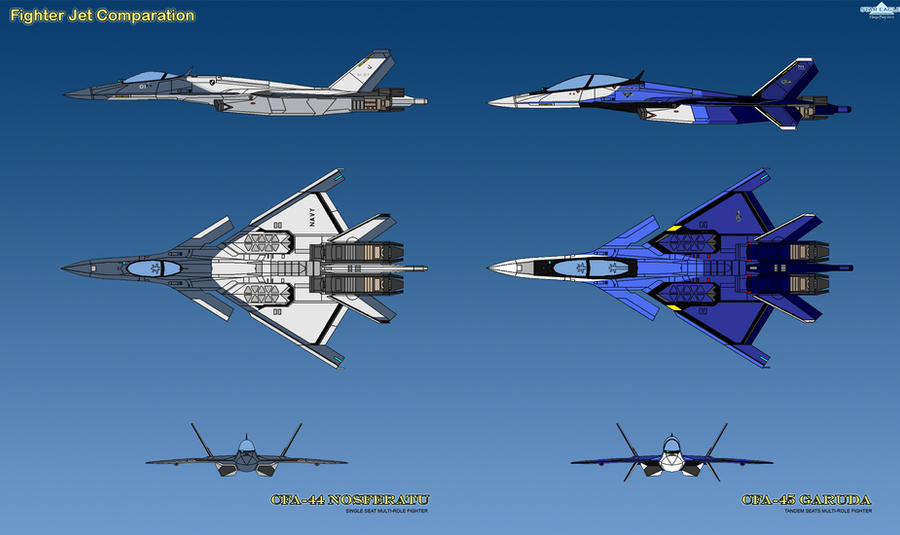 Rufetic Federation Armed Forces Cfa_44_and_cfa_45_comparasion_by_haryopanji-d2ymq8a