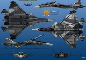 IFX-45 Aquila - 6 view drawing by haryopanji