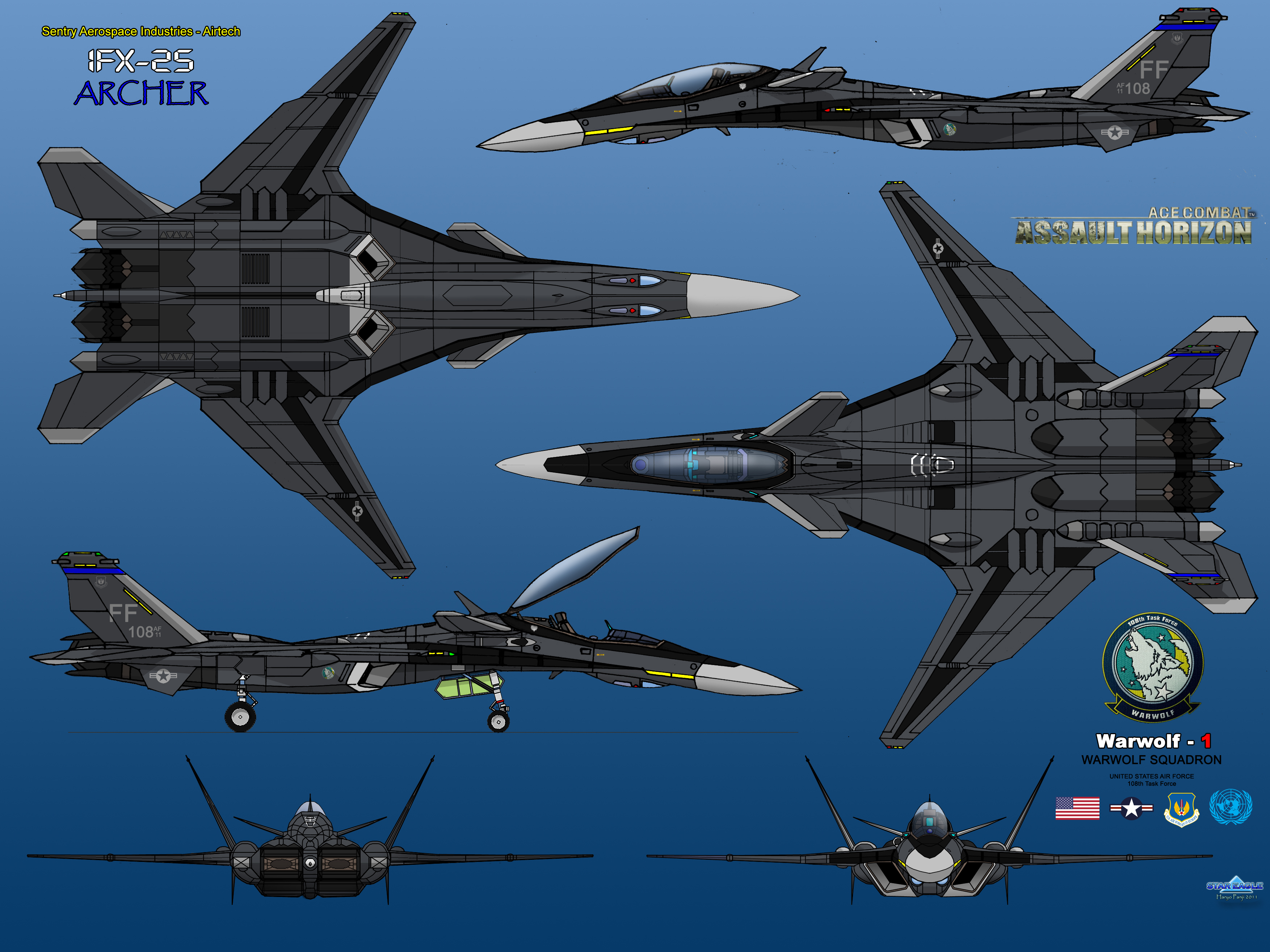 IFX-25 Archer Warwolf 01 by haryopanji