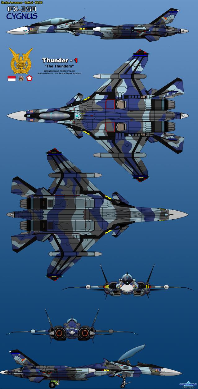 IFX-35A Cygnus TNI-AU by haryopanji