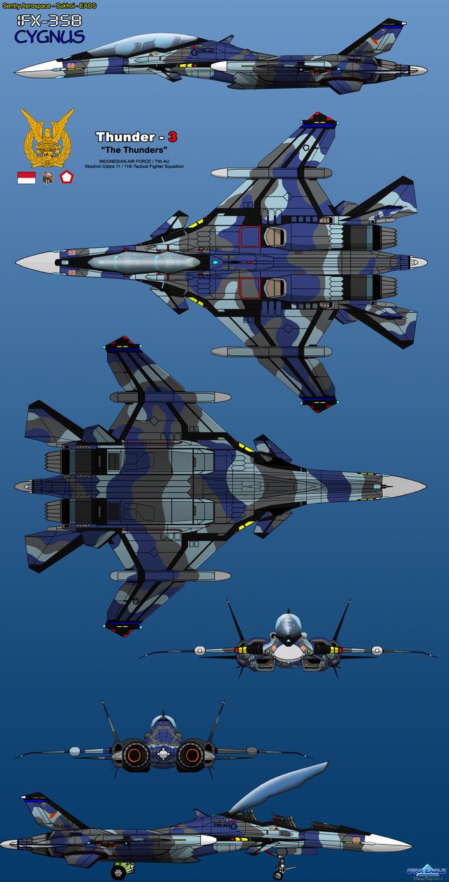 IFX-35B Cygnus TNI-AU by haryopanji