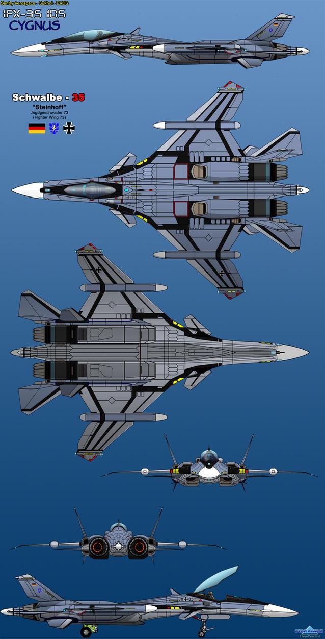 IFX-35 IDS Cygnus - Luftwaffe by haryopanji