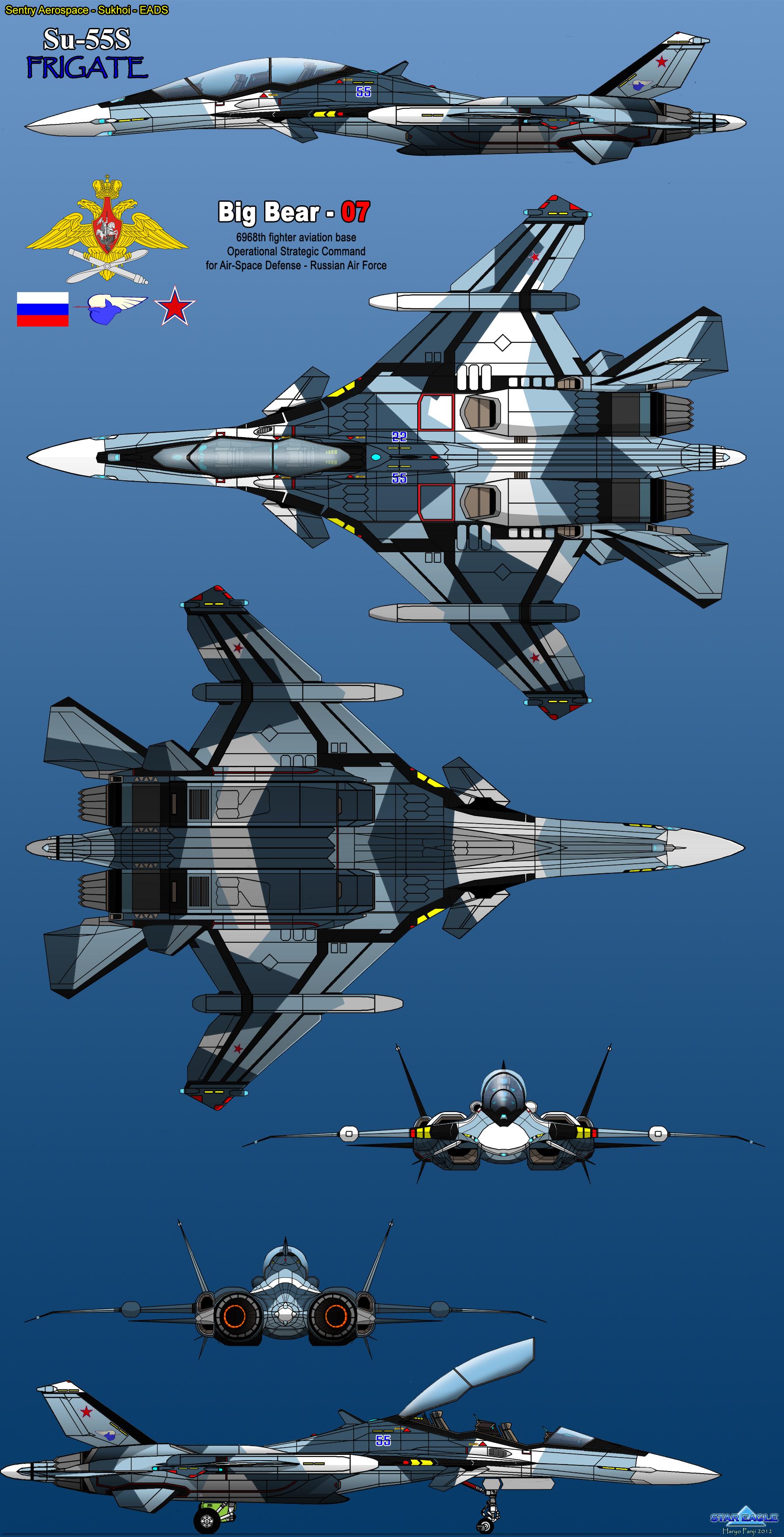 Sukhoi Su-55S Frigate by haryopanji