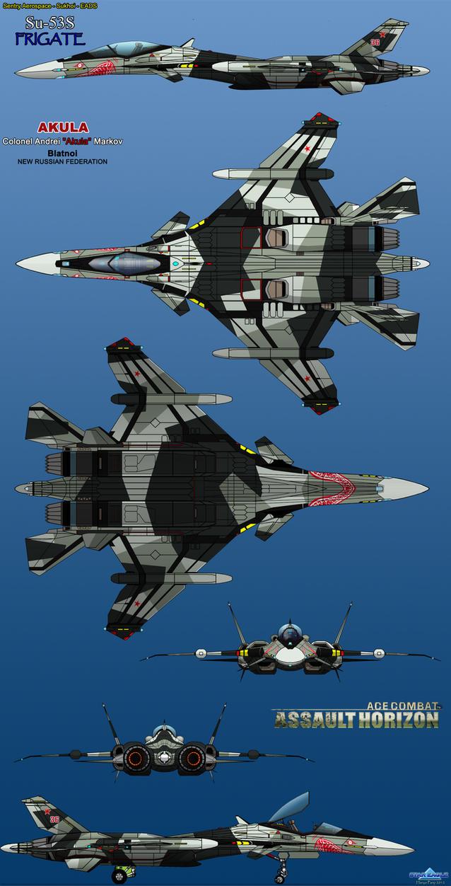 Sukhoi Su-53S Frigate by haryopanji