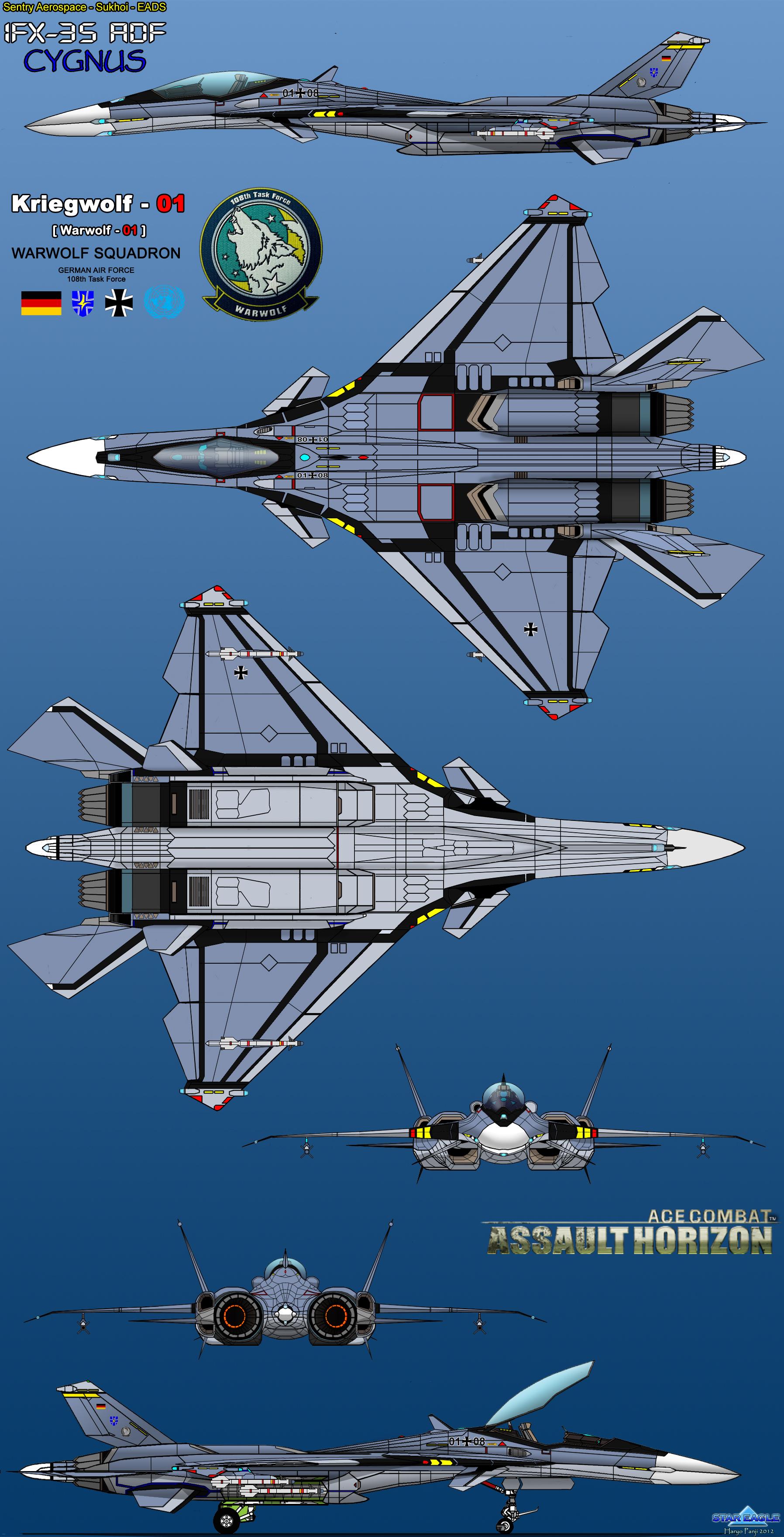 IFX-35 ADF Cygnus - Kriegwolf-One by haryopanji