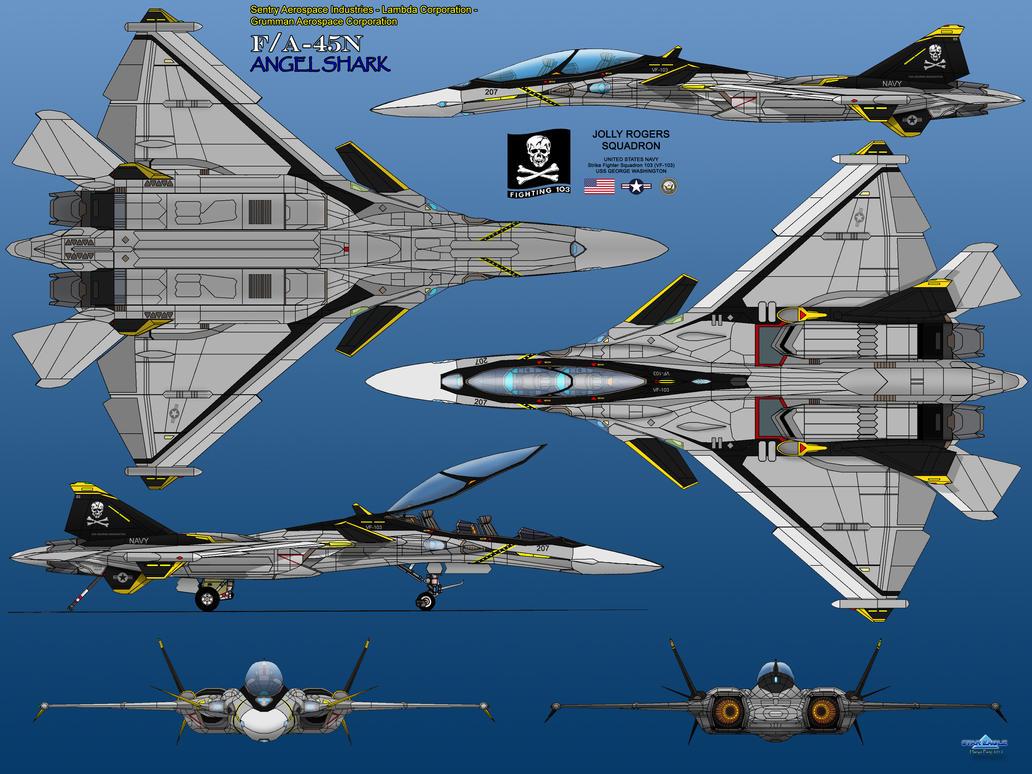 F/A-45N Angel Shark by haryopanji