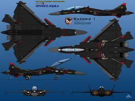 IFX-45R 6 View Razgriz 1 by haryopanji