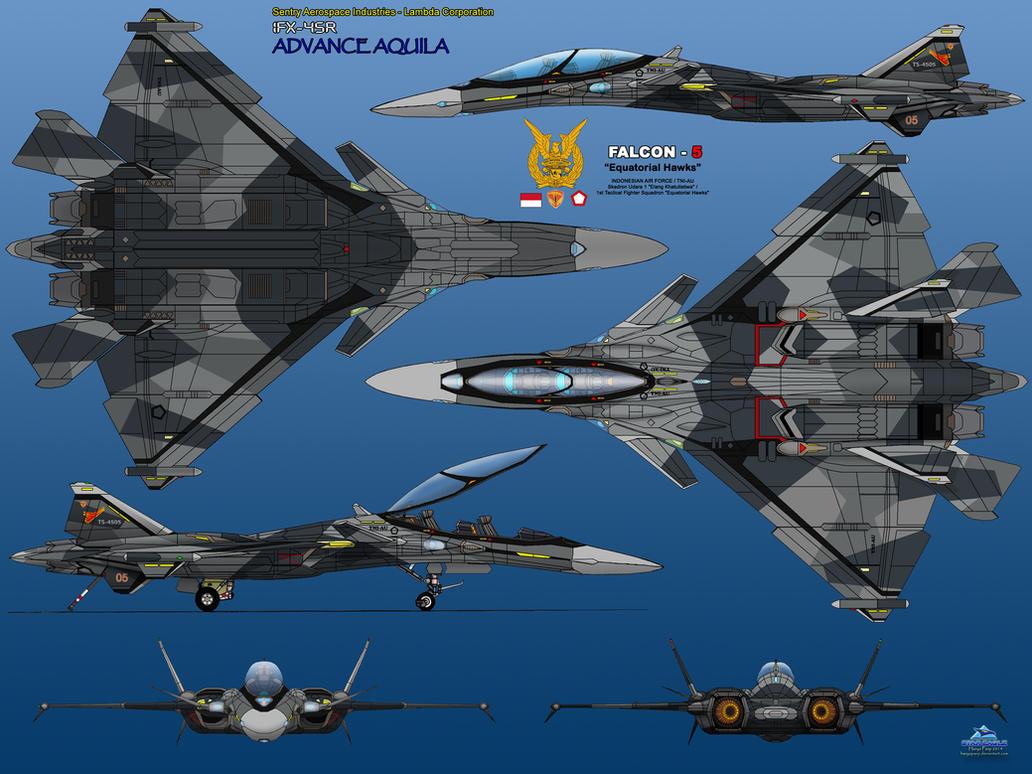 IFX-45R 6 View Equatorial Hawks 2 by haryopanji