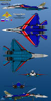 Su-55M Frigate D 6-View Russian Knights by haryopanji