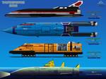 Thunderbirds 2086 TB-1, 2, 3, 4 side view