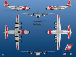 Lockheed Martin HC-130J USCG by haryopanji