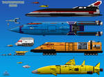 Thunderbirds 2086 Vehicles