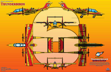 Thunderbird 6 - Rescue Aircraft - Bronco Style by haryopanji
