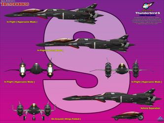 Thunderbird Shadow - Multirole Stealth Aircraft 02 by haryopanji