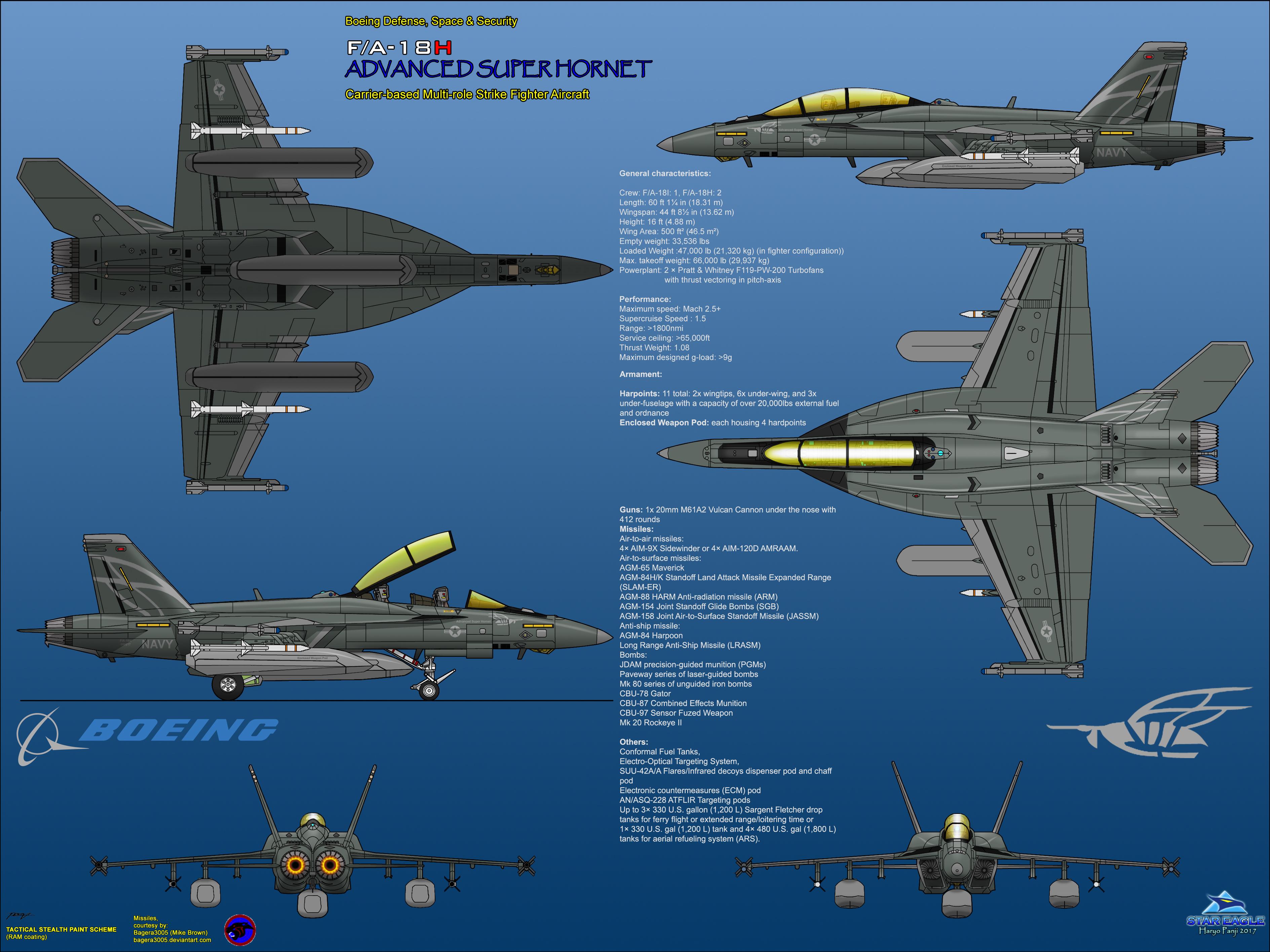 Boeing FA-18H Advanced Super Hornet - EWP Assault