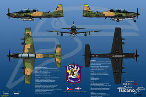 Embraer EMB-314/A-29 Super Tucano with Armor Plate by haryopanji