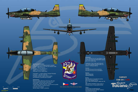 Embraer EMB-314/A-29 Super Tucano with Armor Plate