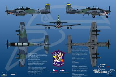 Embraer EMB-314/A-29 Super Tucano with FLIR