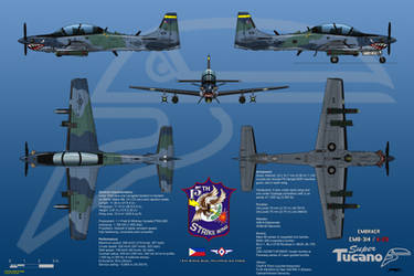 Embraer EMB-314/A-29 Super Tucano with FLIR by haryopanji
