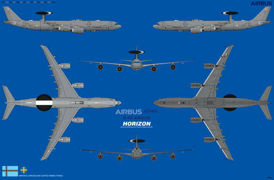 Airbus A340 E-55 AWACS Horizon - All Side (IK)