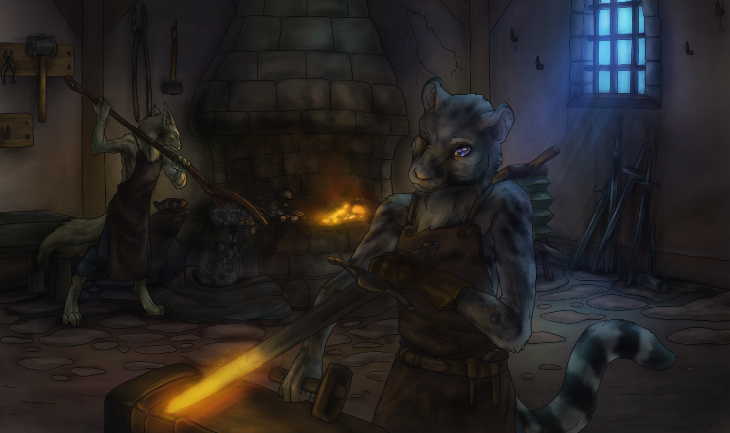 Commission: Blacksmith by 13blackdragons
