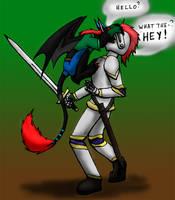 Dark vs. Dragon Slayer by 13blackdragons