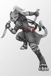 GraySketch: Tahirih by 13blackdragons