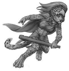 GraySketch: Aztec Jaguar by 13blackdragons