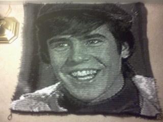 Davy Jones (Pre-Monkees/Colpix) Crochet Portrait by SunshineAlways