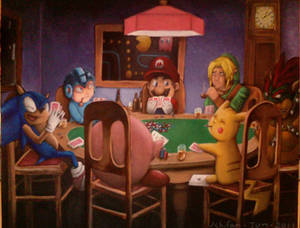 Videogame Poker: Painting