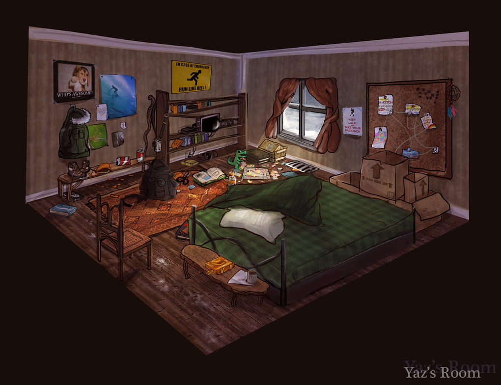 Yazs Room Concept Art By Pheoniic