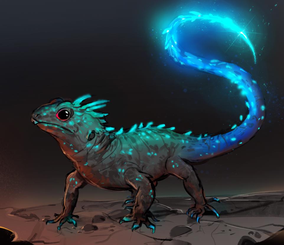 Glowtail Skink by Pheoniic
