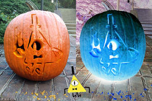 Bill Cipher Pumpkin by Pheoniic