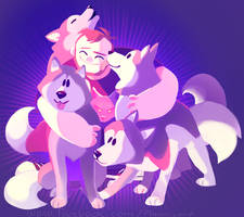 A Guy Who Deserves 4 Huskies by Pheoniic