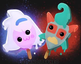 Nij and Nova as Derpy Ice Cream