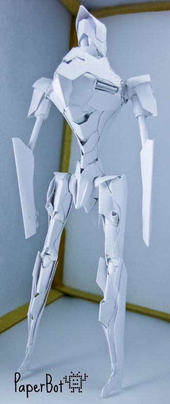 Saber Runner Back by PaperBot