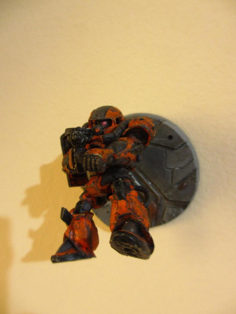 Zaku II - Space Battle 2 by PaperBot