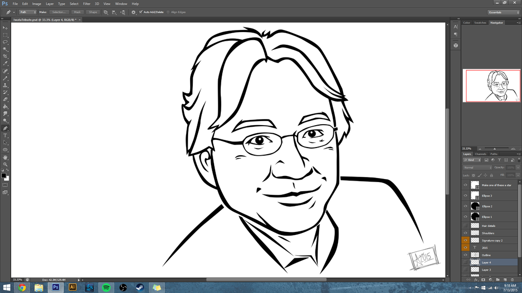 Iwata Tribute WIP by nintendobratkat