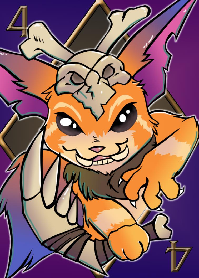 2015: League of Legends Card #4 - Gnar by nintendobratkat