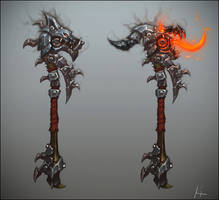 Warlords of Draenor Weapon Concept by turpedo